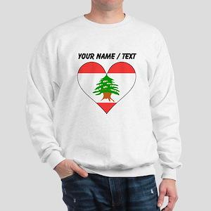 Custom Lebanon Flag Heart Sweatshirt