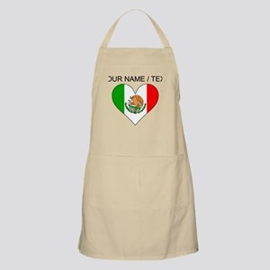 Custom Mexico Flag Heart Apron