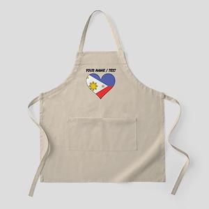 Custom Philippines Flag Heart Apron