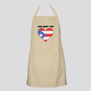 Custom Puerto Rico Flag Heart Apron