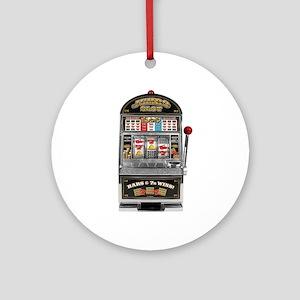 Casino Slot Machine Ornament (Round)