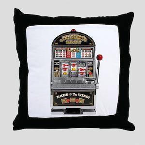 Casino Slot Machine Throw Pillow