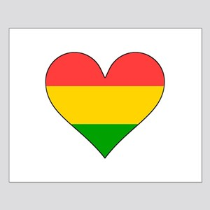 Bolivia Flag Heart Posters