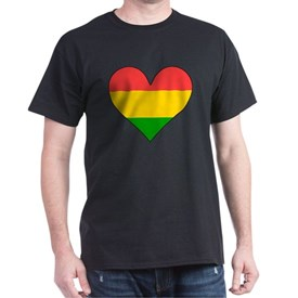 Bolivia Flag Heart T-Shirt