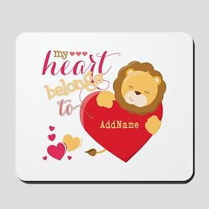 My Heart Belongs to Personalized Mousepad