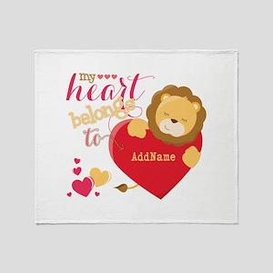 My Heart Belongs to Personalized Throw Blanket