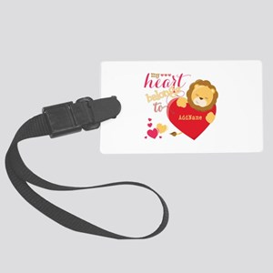 My Heart Belongs to Personalized Large Luggage Tag