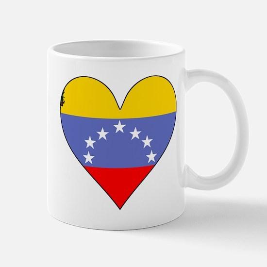 Venezuela Flag Heart Mugs