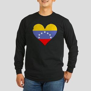 Venezuela Flag Heart Long Sleeve T-Shirt
