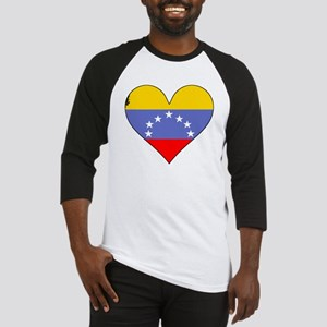 Venezuela Flag Heart Baseball Jersey