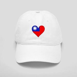 Taiwan Flag Heart Baseball Cap
