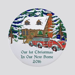 2016 Our 1st Christmas New Home Ornament (round)