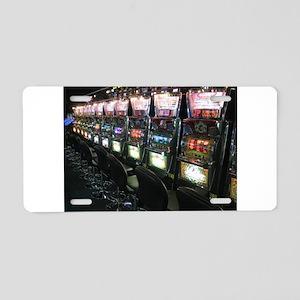Casino Slot Machine Aluminum License Plate