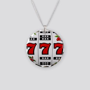Casino Slot Machine Necklace Circle Charm