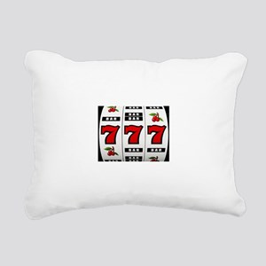 Casino Slot Machine Rectangular Canvas Pillow