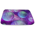 Inner Flow II Purple Abstract Bathmat