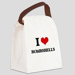 I Love Bombshells Canvas Lunch Bag