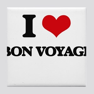 I Love Bon Voyage Tile Coaster