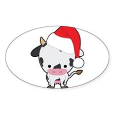 Holiday Cow Sticker