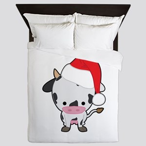 Holiday Cow Queen Duvet
