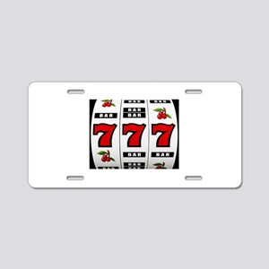 Casino Slot Machine Aluminum License Plate