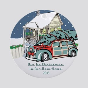 2015 Our 1st Christmas New Home Ornament (round)