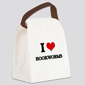 I Love Bookworms Canvas Lunch Bag