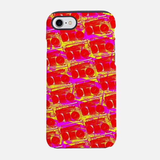 Boombox Pattern iPhone 7 Tough Case