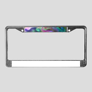 fascination fluid, multicolor2 License Plate Frame