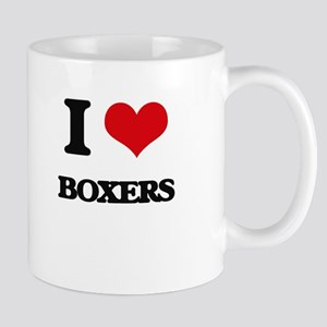 I Love Boxers Mugs