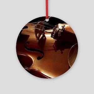 Beautiful Violin Ornament (Round)