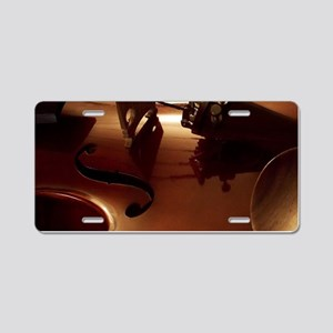 Beautiful Violin Aluminum License Plate