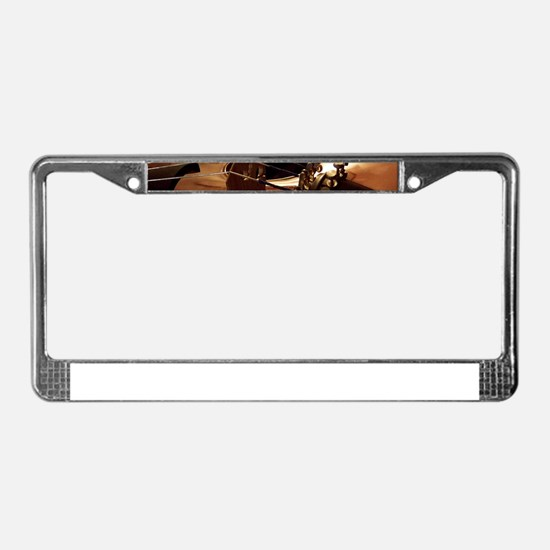Beautiful Violin License Plate Frame