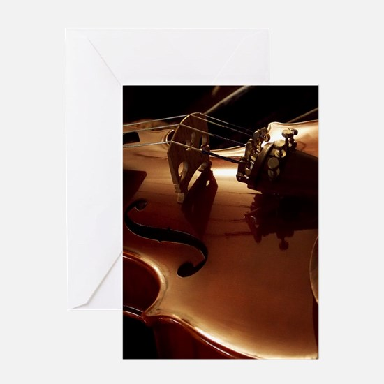 Beautiful Violin Greeting Cards