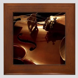 Beautiful Violin Framed Tile