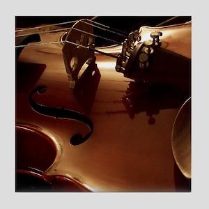 Beautiful Violin Tile Coaster