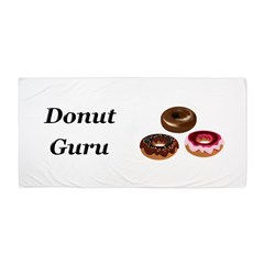 Donut Guru Beach Towel