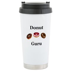 Donut Guru Stainless Steel Travel Mug
