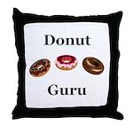 Donut Guru Throw Pillow