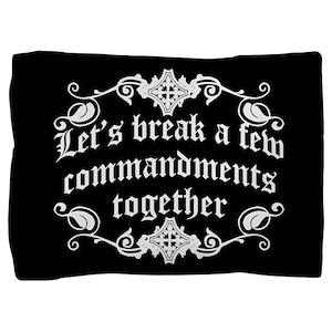 lets-break-commandments_b Pillow Sham