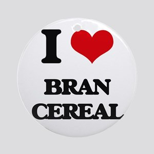 I Love Bran Cereal Ornament (Round)
