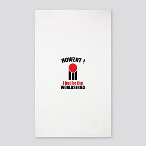 HOWZAT I BAT FOR THE WORLD SERIES Area Rug