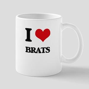 I Love Brats Mugs
