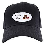 Donut King Black Cap
