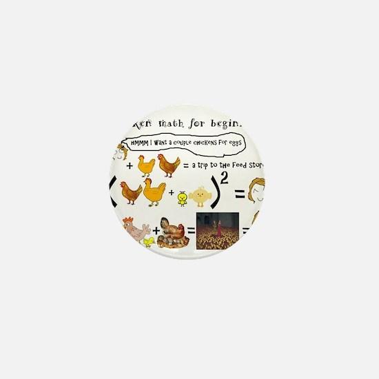 Chicken Math Mini Button