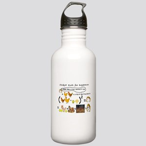 Chicken Math Water Bottle