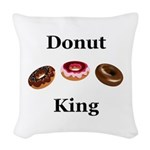Donut King Woven Throw Pillow