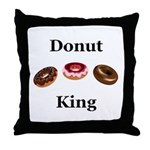 Donut King Throw Pillow