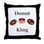 Donut King Throw Pillow