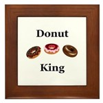 Donut King Framed Tile